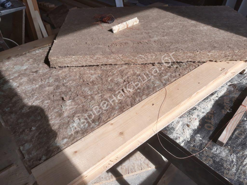 Устройство за цепене на плочи от каменна вата