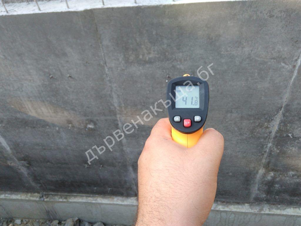 температура на стягащ бетон